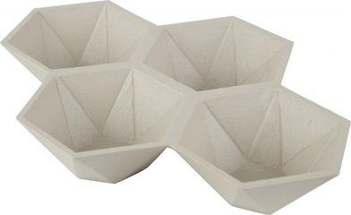 Opbergbak Hexagon - sand  - Zuiver